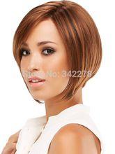 Para mujer de moda peinado pelucas sintéticas corto BOBO del pelo pelucas rectas para afroamericanos mujeres Sinteticas Perruque Natural(China (Mainland))