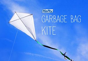 DIY Kite: Homemade Kites Using Hefty Trash Bags: Hefty Kitchen Pitch-In—If you're looking for a fun way to entertain kids this summer, why not make a homemade kite? Create your own DIY out of Hefty trash bags today!