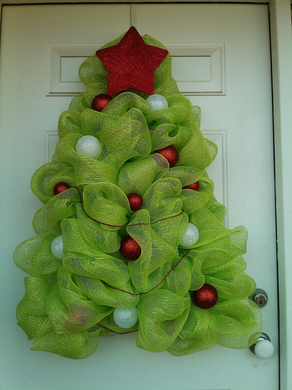 Decomesh Christmas Tree Wreath by DitzyDesign on Etsy, $85.00