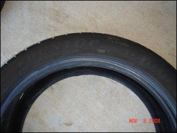 245 40r18 Run Flat Tires