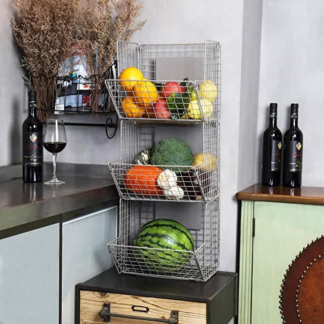 Wall Options For Fruit Storage In 2020 Wall Basket Storage Wall Storage Storage Baskets
