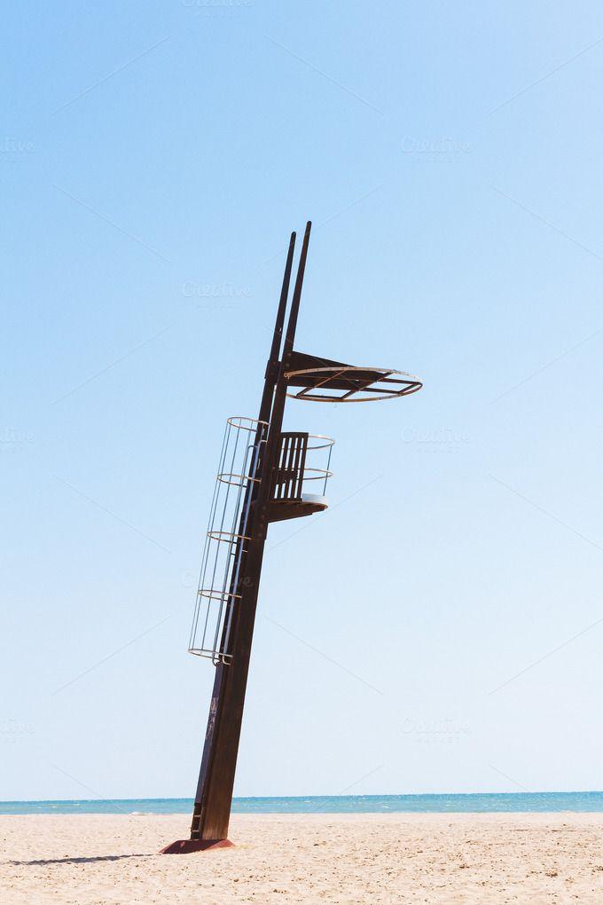 Lifeguard tower by OSORIOartist on Creative Market
