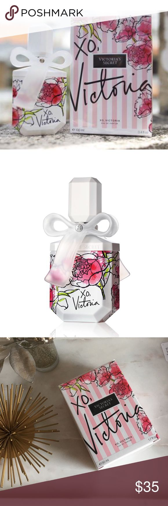 "XO, Victoria | 1.7oz Eau de Parfum This 1.7oz XO, Victoria eau de perfume comes in the cutest bottle! It's still sealed and has never been opened; retails for $52! Smells very light and airy -- is described on the box as ""sheer perfection: victoria rose 