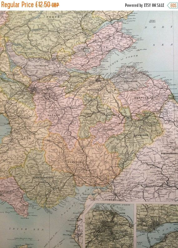 Best Scotland Images On Pinterest Antique Maps Old Maps And - Antique maps for sale uk