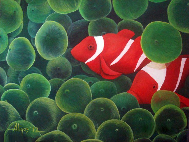 Nemo Fish, Acrylic on canvas, 60cm x 50cm, Artist : Aliyas