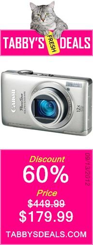 Canon PowerShot ELPH 510 HS 12.1 MP $179.99