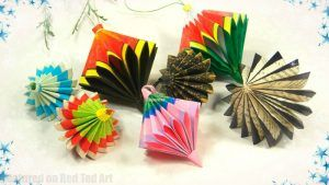 Paper Ornaments how to - Red Ted Art's Blog
