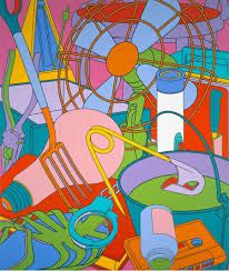 Micheal Craig Martin - different sizes and shapes and colours
