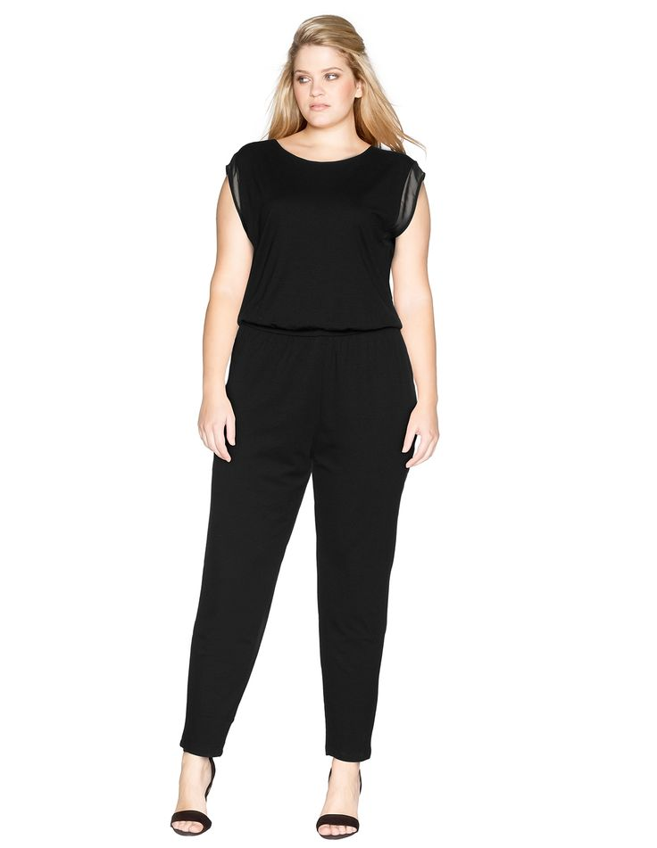 samoon jumpsuit aus jersey navabi curve woman pinterest jumpsuits products and jersey. Black Bedroom Furniture Sets. Home Design Ideas