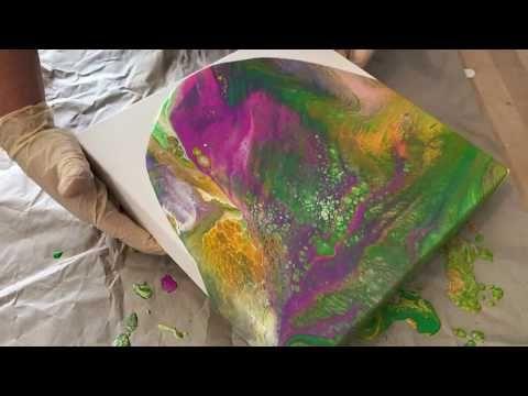 Tuto Acrylique Pouring 1 Démonstration Et Explication De La