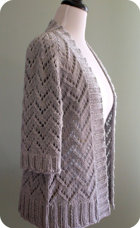 Crafter's Bay Cardigan Knitting Pattern - Perfect Cardigan for any season.