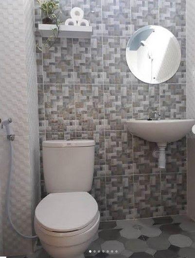 Kamar Mandi Kecil Keramik Dinding Minimalis Sederhana Terbaru #desainrumah # #KamarMandi Dalam desain kamar mandi … | Gaya kamar mandi, Kamar mandi, Ide kamar mandi