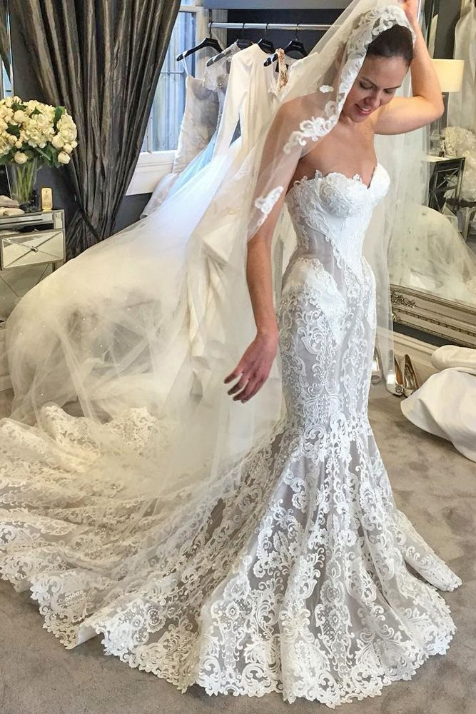 1000 best bridal gown mermaid fishtail volume1 images on for Steven khalil mermaid wedding dress