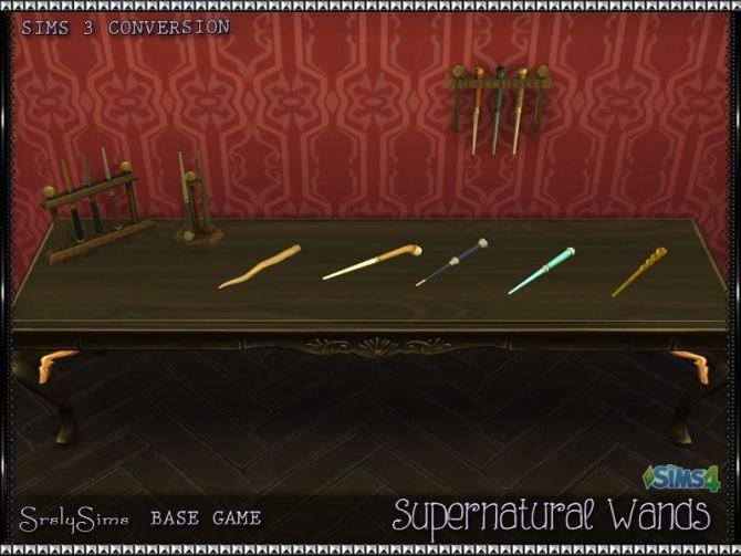 Supernatural Wands at SrslySims via Sims 4 Updates | SIM
