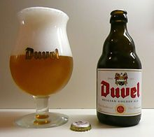 Duvel: typical blond Belgian ale