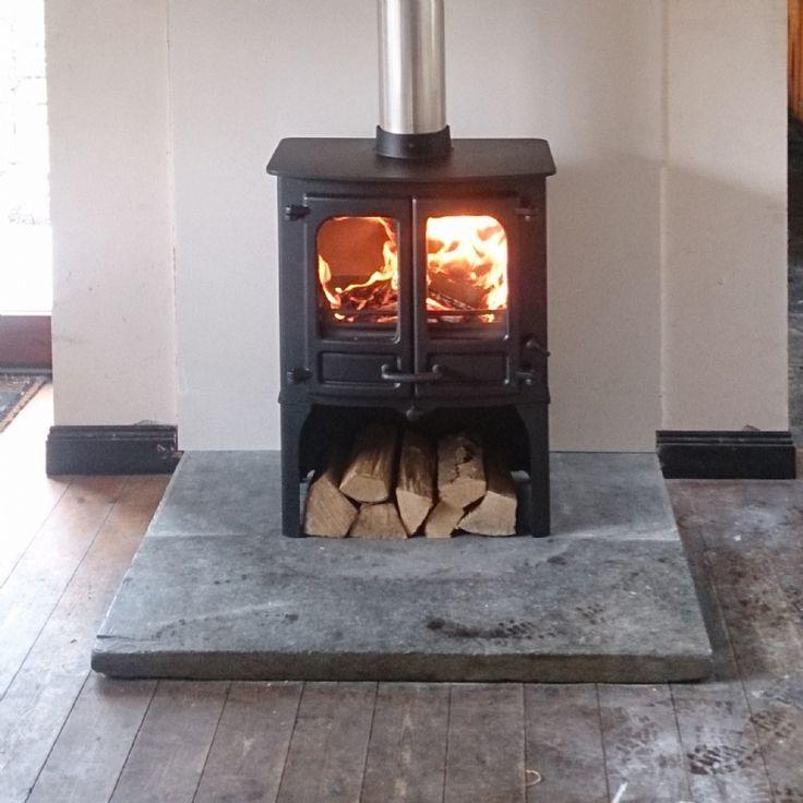 Charnwood Island II Installation #stove #woodburner #cornwall #contemporary…