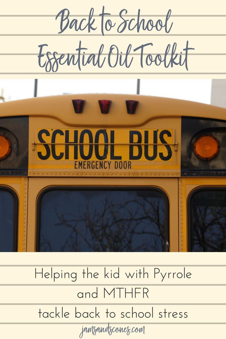 It's back to school time and for MTHFR/pyrrole kids that can be extra challenging. I've put together an essential oils toolkit to help make it easier. #backtoschool #anxietyinkids #essentialoilsforkids