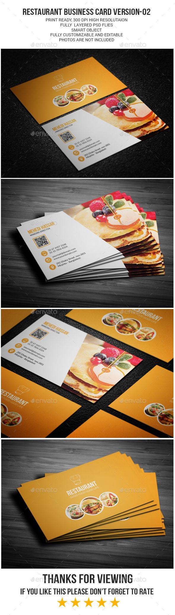 2859 best business card template design images on pinterest restaurant business card version 02 magicingreecefo Choice Image