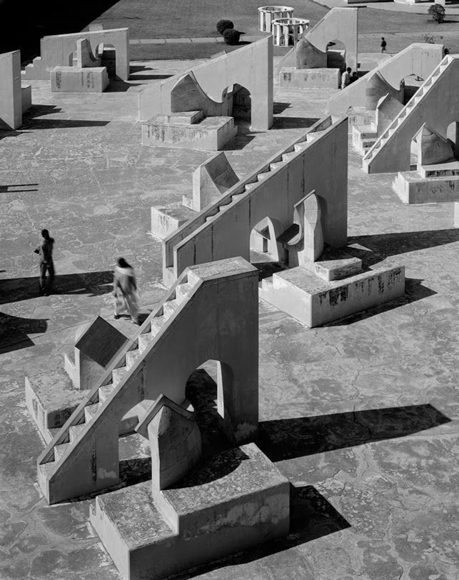 "Hélène Binet – Looking at Historic Architecture""The light and shadow of the observatory in Jaipur is telling us th..."
