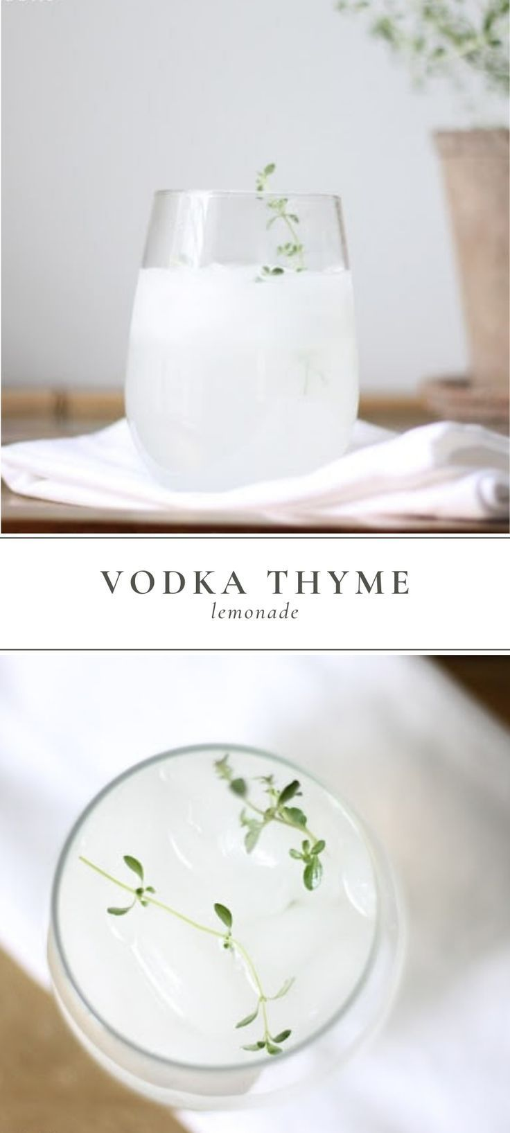 Vodka Thyme Lemonade is a delicious spring and summer time cocktail. It's flavor is simple and beaut…