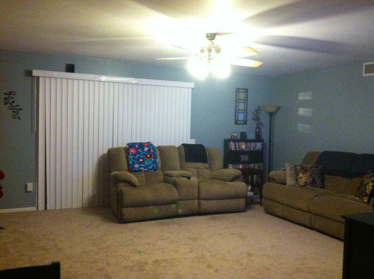 31 best rental paint images on pinterest dark walls for Blue arrow paint color