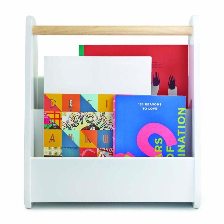 Umbra - Gazette Magazine Rack (White) - Modern Homewares Buy Your Accessories Online or In Store!