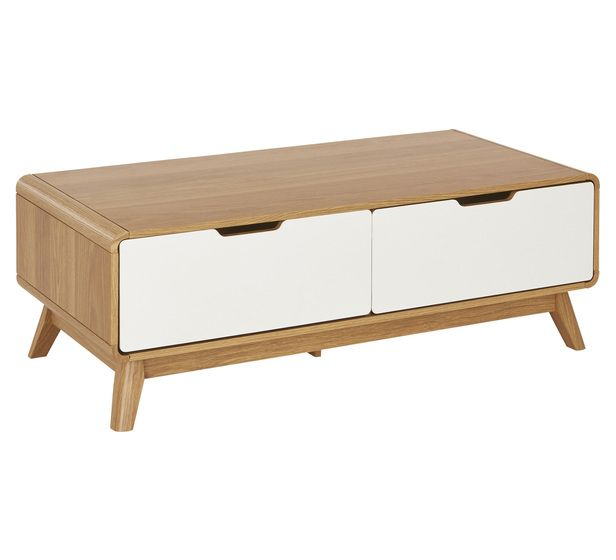 Retro 2 Drawer Coffee Table | Coffee Tables | Living Room | Categories | Fantastic Furniture - Australia's Best Value Furniture & Bedding