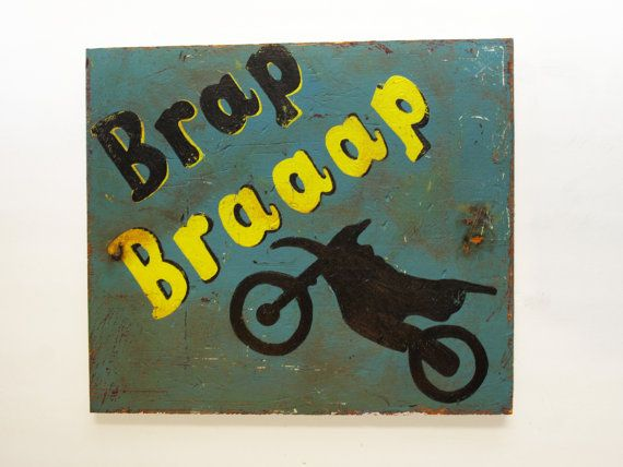 Items Similar To Dirt Bike Brap Wooden Sign On Etsy