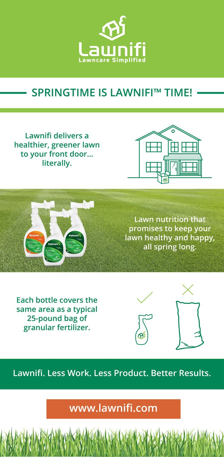Springtime is Lawnifi™ time! Simplify your lawn maintenance with Lawnifi. Each 32oz bottle covers the same area as a typical 25lb bag of granular fertilizer!