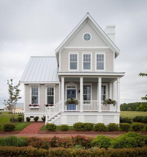 I love this simple clean design! Cassatt Cottage (153175) House Plan (153175) Design from Allison Ramsey Architects