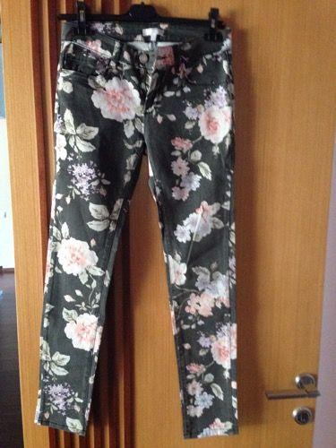 %53 indirimli Twist Pantolon Çiçekli Denim | Modacruz