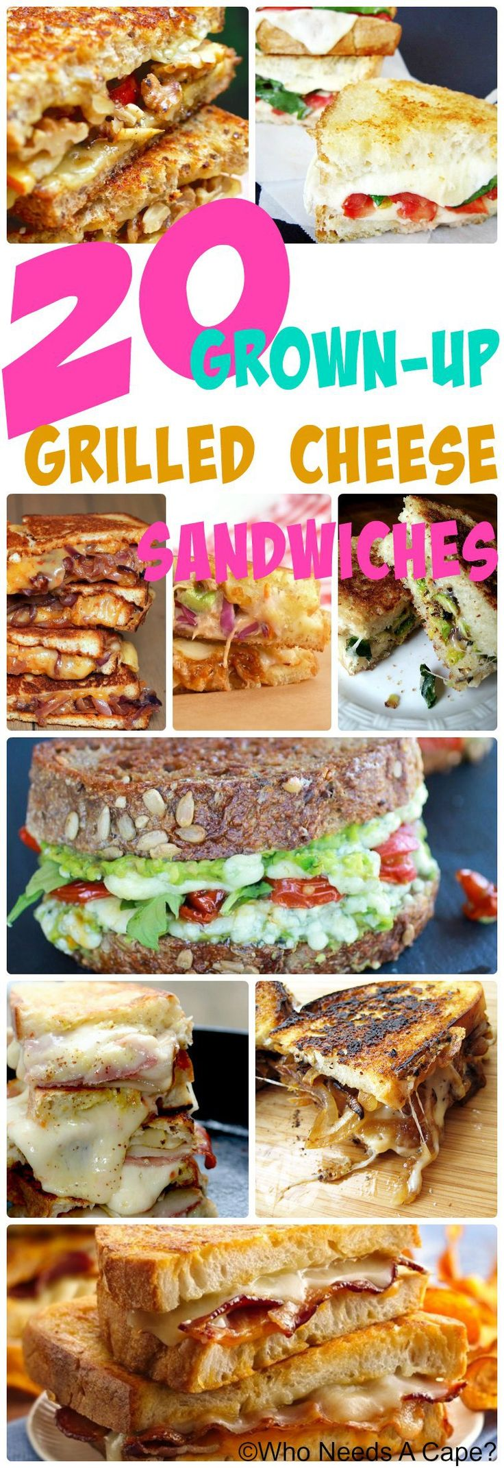 20 Grown-Up-Grilled Cheese Sandwiches ! Oh my goodness... these are seriously amazing!