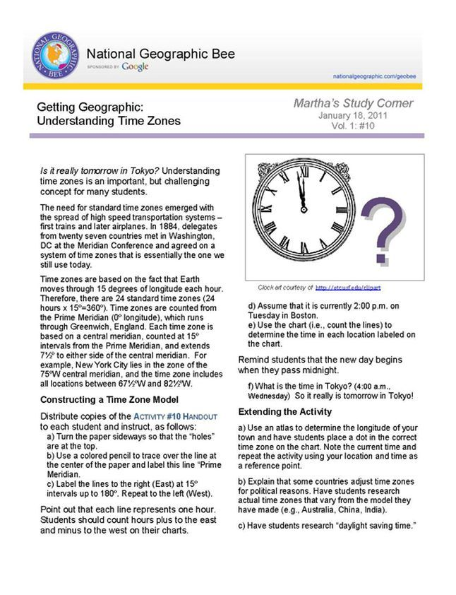 Activity Students Construct A Time Zone Model And Use It To Determine The Time In Locations Arou Current Event Analysis Current Events Worksheet Understanding Us time zone worksheets