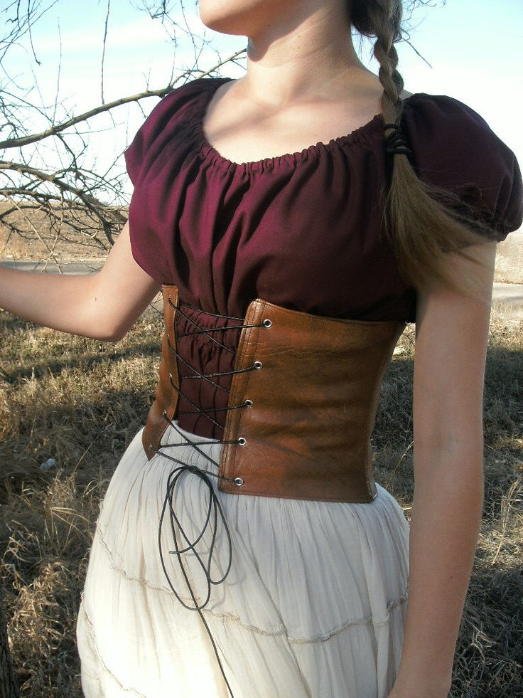 Leather Waist Cincher Corset with Boning Custom by TheModestMaiden