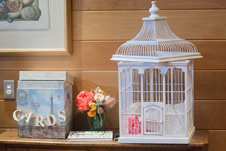 Bird cage wishing well and french scene box for cards