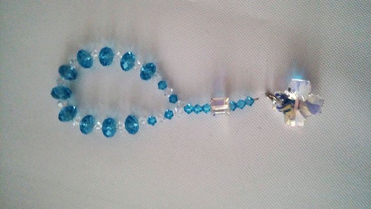 10 Swarovski rosary Mini rosary favors Blue rosary Boy baptism gift for guests Unique rosary One decade rosary gift Catholic baptism gifts by eAGAPIcom on Etsy