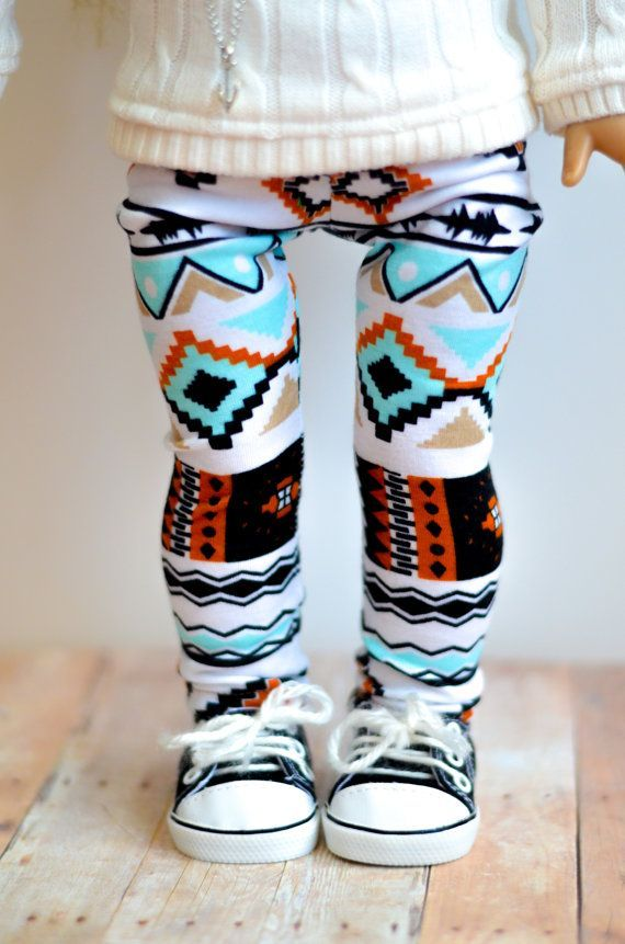 cool The Morgan leggings in tribal print for American Girl 18 inch doll clothes cute ...