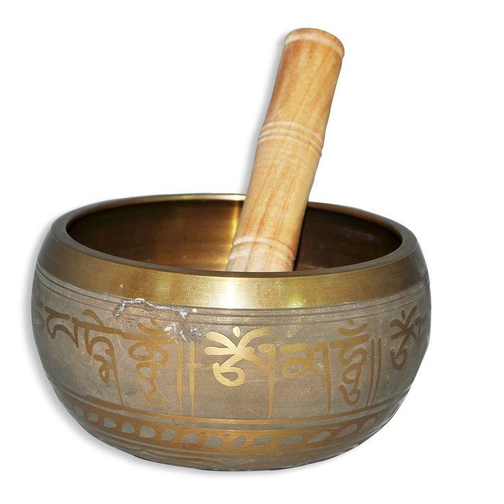 Dakshcraft Handmade Brass Singing Bowl with Mallet For Meditation 5.50 Inches
