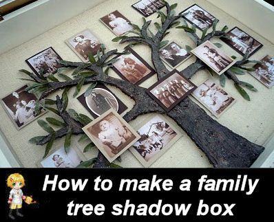 DIY Family Tree Shadow Box -