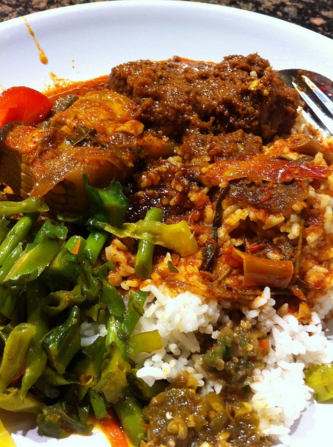 Indonesian food: Nasi padang, hot and yummy.....