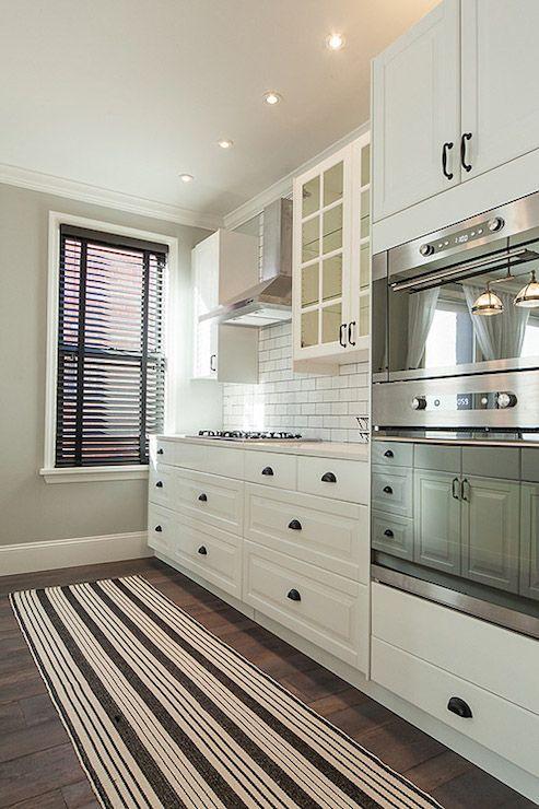 Kitchens, Ikea Cabinets, Ikea Kitchens, Dark Hardwood, White Kitchens