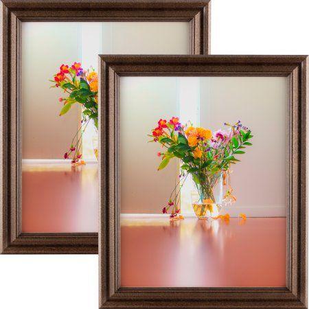 Craig Frames Tulip 60, Walnut Brown Hardwood Picture Frame, 8.5x11 Inch, Set of 2