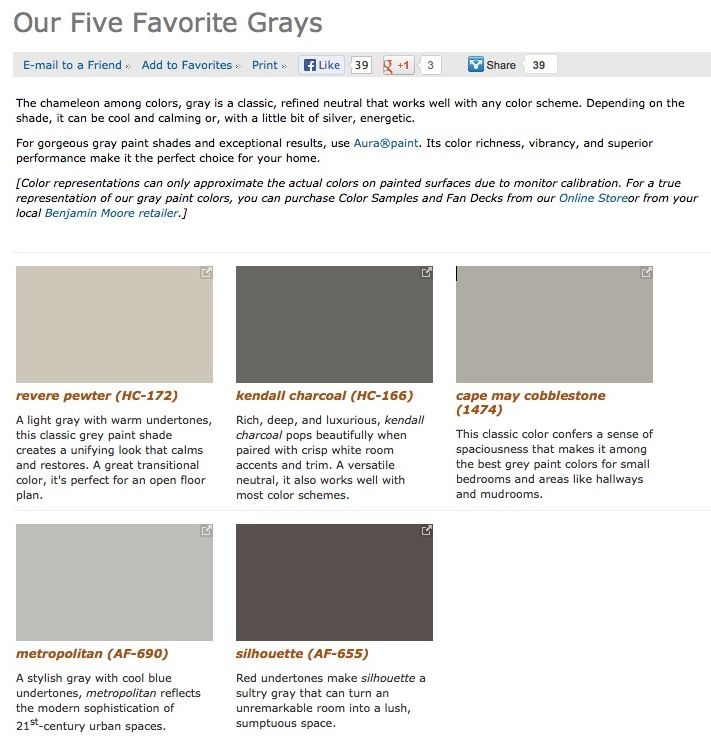 Favorite Popular Best Selling Shades Of Gray Paint