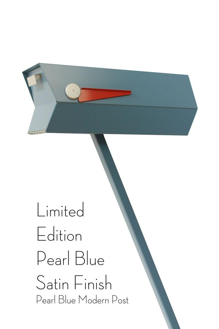 Midcentury Modern Mailbox  Solid Satin
