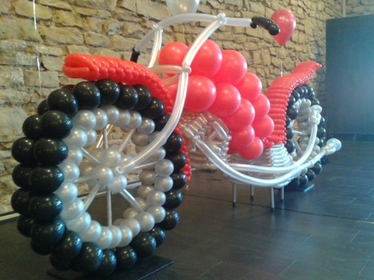 16 best moto en globos images on pinterest globes - Figuras con globos ...
