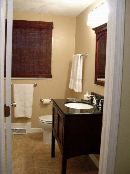 Small bathroom makeovers remodelaholic small bathroom for Main bathroom remodel ideas