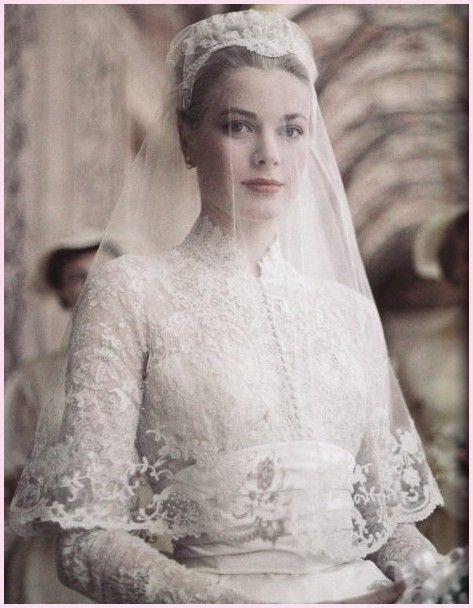 velo nuziale di Grace Kelly