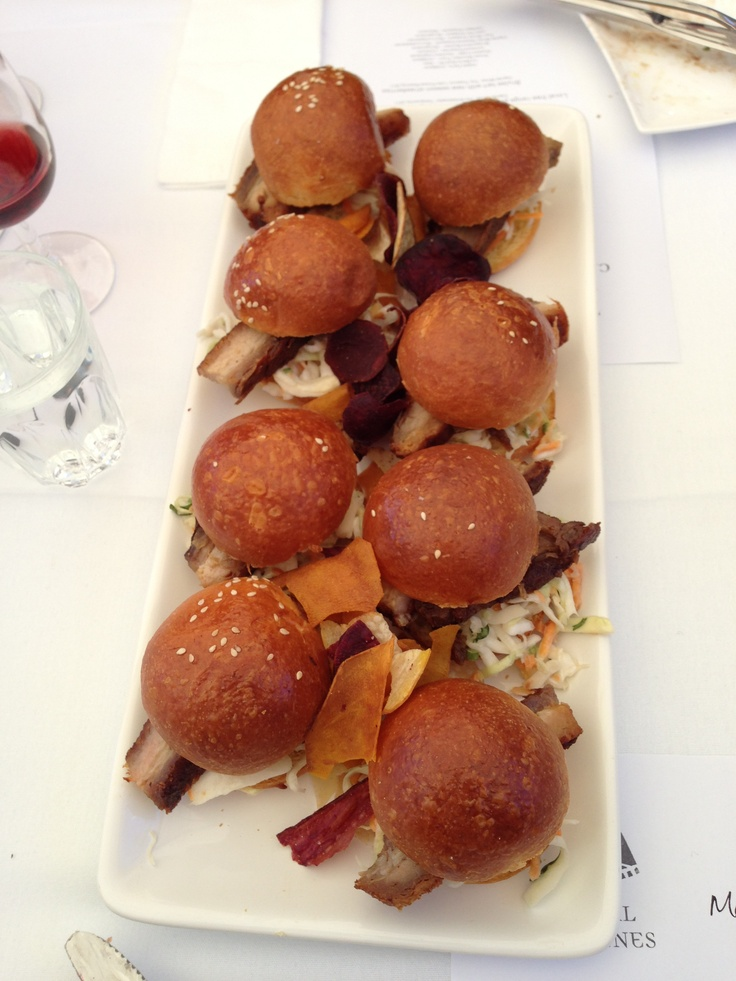 Pork belly sliders at Grazing in #canberra #humanbrochure