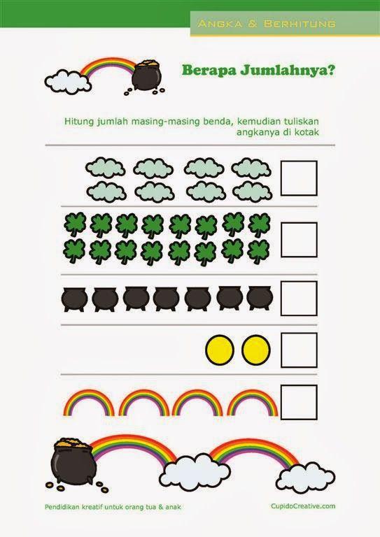 Belajar Menghitung Angka 1 20 Matematika Dasar Untuk Paud Tk Balita Edukids Pinterest