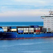 Largest container ship to visit the Port of Tyne signals new route to Russia.